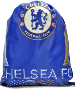 Vak na chrbát Chelsea so šnúrkami modrý s pásmi