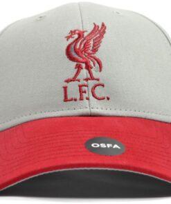 Šiltovka Liverpool Mass šedo-červená