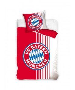 Obliečky Bayern na perinu a vankúš červeno-biele