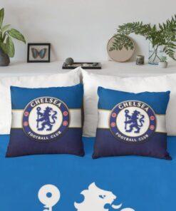 Obliečka Chelsea na vankúš modro-biela 40x40cm