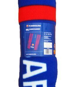 Deka FC Barcelona modrá 110 x 140 cm - flísová/fleecová