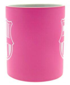 Hrnček FC Barcelona s logom klubu ružový