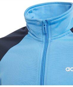 Adidas detská tepláková súprava modrá s čiernou