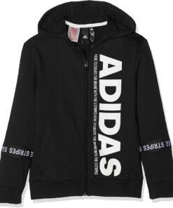 Adidas detská mikina čierna s nápisom Adidas