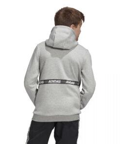 Adidas detská mikina šedá s čiernymi pásmi