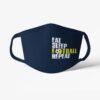 Futbalové rúško Eat Sleep Football Repeat tmavomodré
