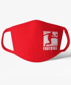 Futbalové rúško Football s hráčom červené