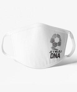 Futbalové rúško Futbal je v mojej DNA biele