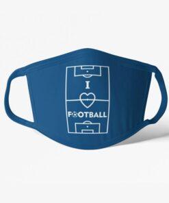 Futbalové rúško I Love Football modré