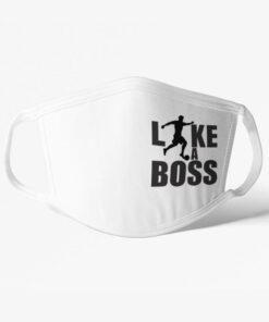 Futbalové rúško Like a Boss biele