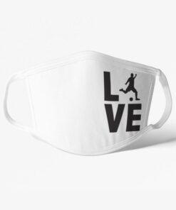 Futbalové rúško Love biele