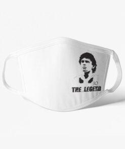 Futbalové rúško Maradona The Legend biele