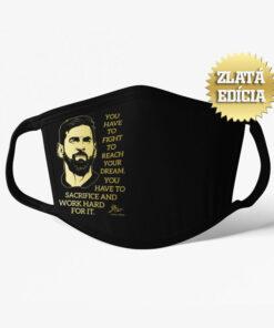 Rúško Messi s mottom ZLATÁ EDÍCIA