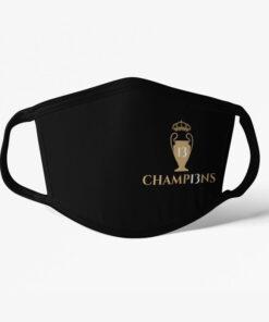 Rúško Real Madrid Champions čierne