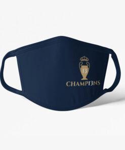 Rúško Real Madrid Champions tmavomodré