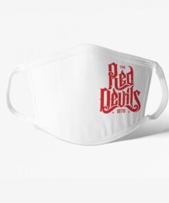 Rúško Manchester United Red Devils biele