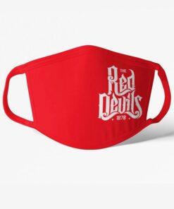 Rúško Manchester United Red Devils červené