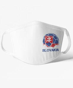 Futbalové rúško Slovakia biele