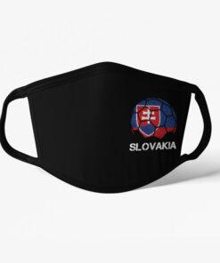 Futbalové rúško Slovakia čierne