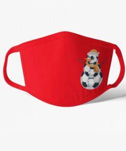 Futbalové rúško zimné červené