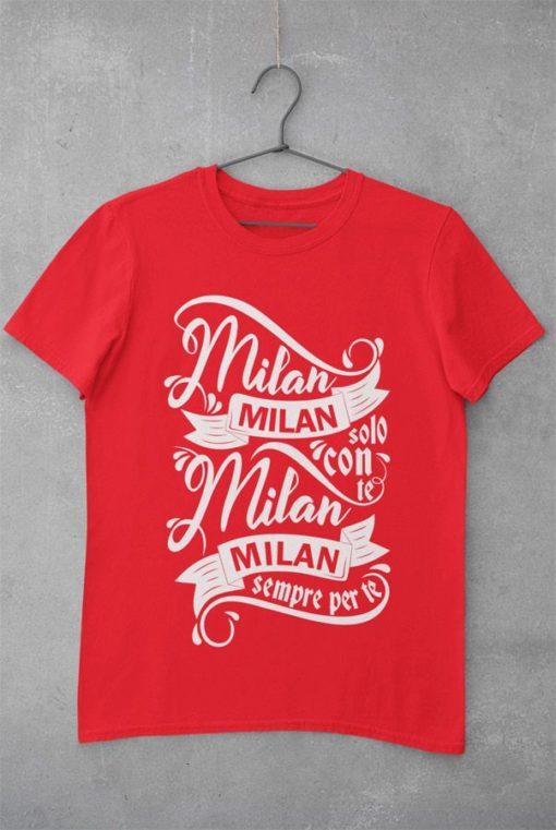 Tričko AC Miláno Solo Con Te červené