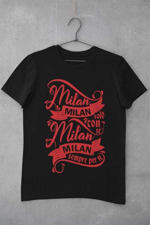 Tričko AC Miláno Solo Con Te čierne