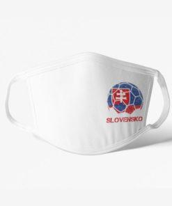 Futbalové rúško Slovensko biele