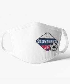 Futbalové rúško tím Slovensko biele