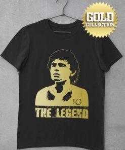 Tričko Maradona Legend GOLD COLLECTION