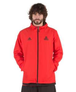 Bunda Adidas Windbreaker Tango červená na šport