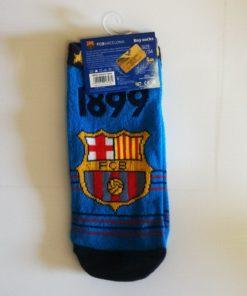 Detské ponožky FC Barcelona modré logo