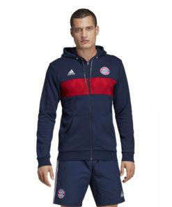 Mikina Bayern Adidas Performance modro-červená s logom