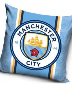 Obliečka na vankúš Manchester City bledomodrá