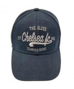 Šiltovka Chelsea plátenná modrá nápis