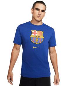 Tričko FC Barcelona Nike Tee Evergreen modré predná strana