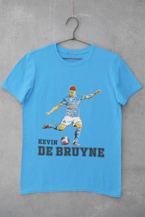 Tričko De Bruyne Manchester City modré