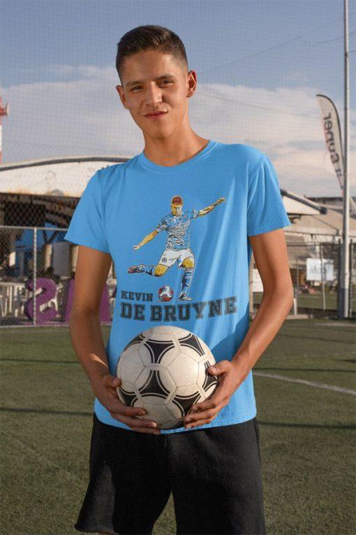 Tričko De Bruyne Manchester City modré chlapčenské