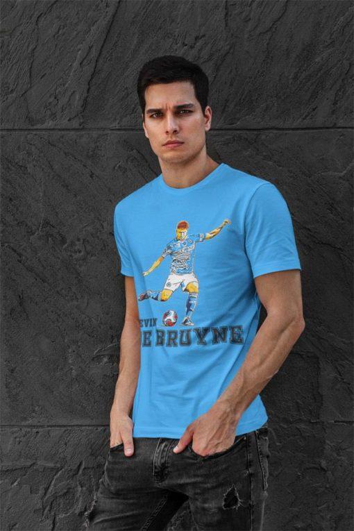 Tričko De Bruyne Manchester City modré pánske