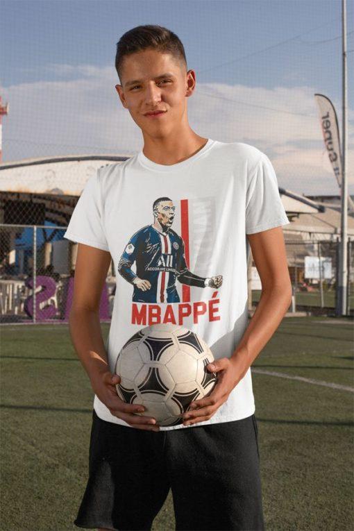 Tričko Mbappe PSG biele chlapčenské