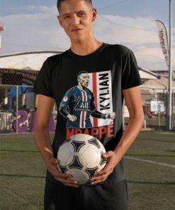 Tričko Mbappe PSG čierne chlapčenské