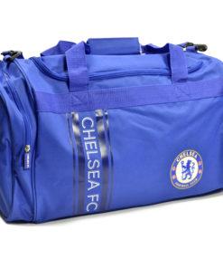 Vak Chelsea Holdall modrý s nápisom