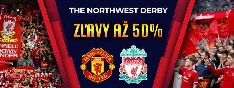 Zľavy 50% na produkty Liverpool a Manchester
