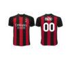 Dres AC Miláno s vlastným menom a číslom