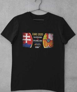 Tričko Slovensko - Španielsko EURO čierne