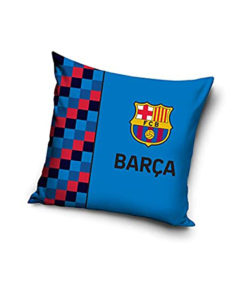 Vankúš FC Barcelona modrý s logom 40x40 cm FCB191006